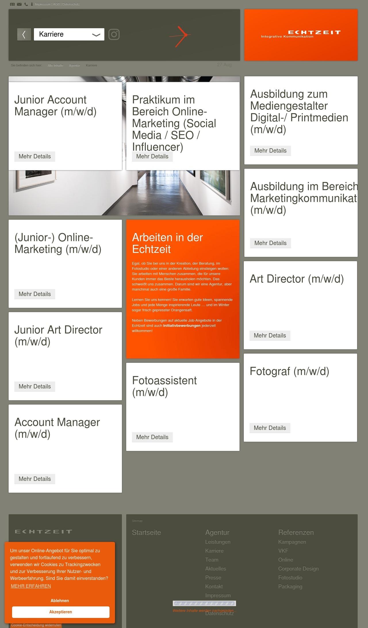 Werbeagentur Jobs und Stellenangebote